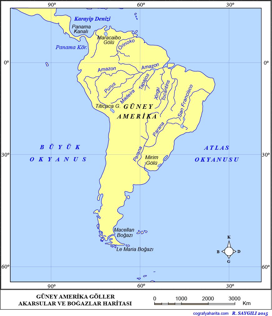 Güney Amerika Haritası 4