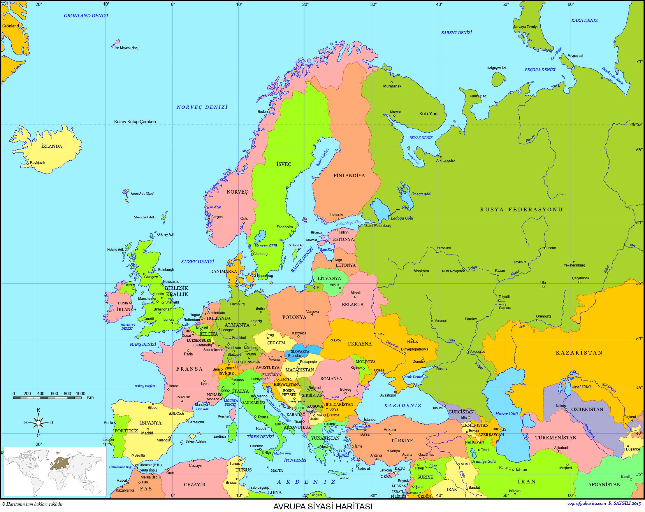 Avrupa Haritası 3