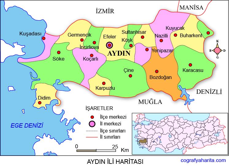 Aydın Haritası