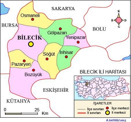 Bilecik Haritası