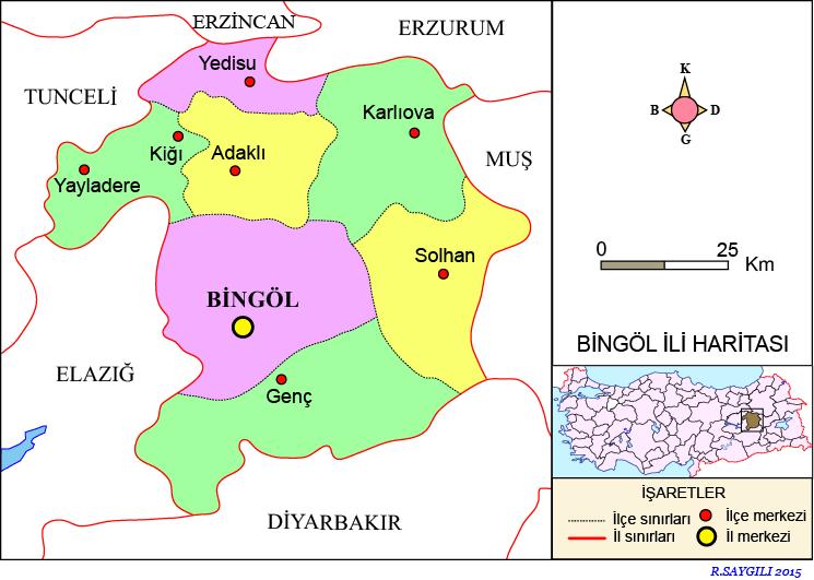 Bingöl Haritası