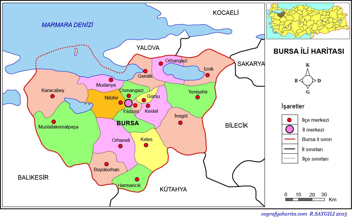 Bursa Haritası