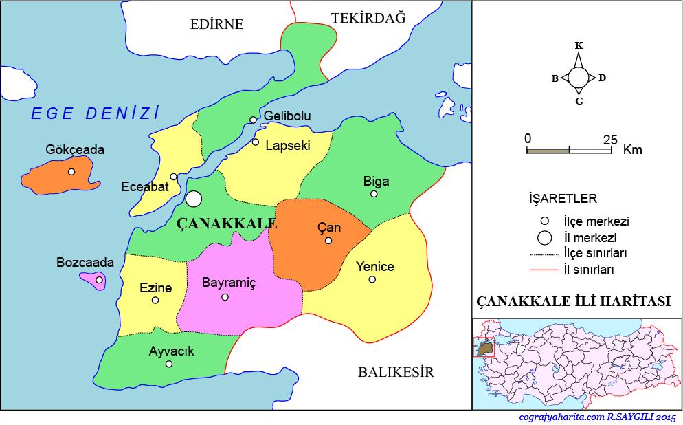 Çanakkale Haritası
