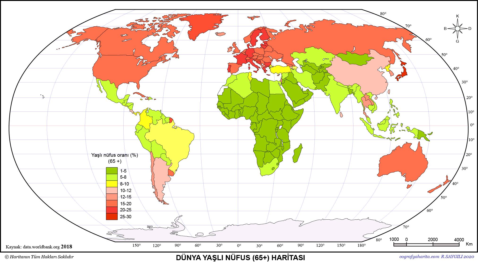 Dünya Nüfus Haritaları 3