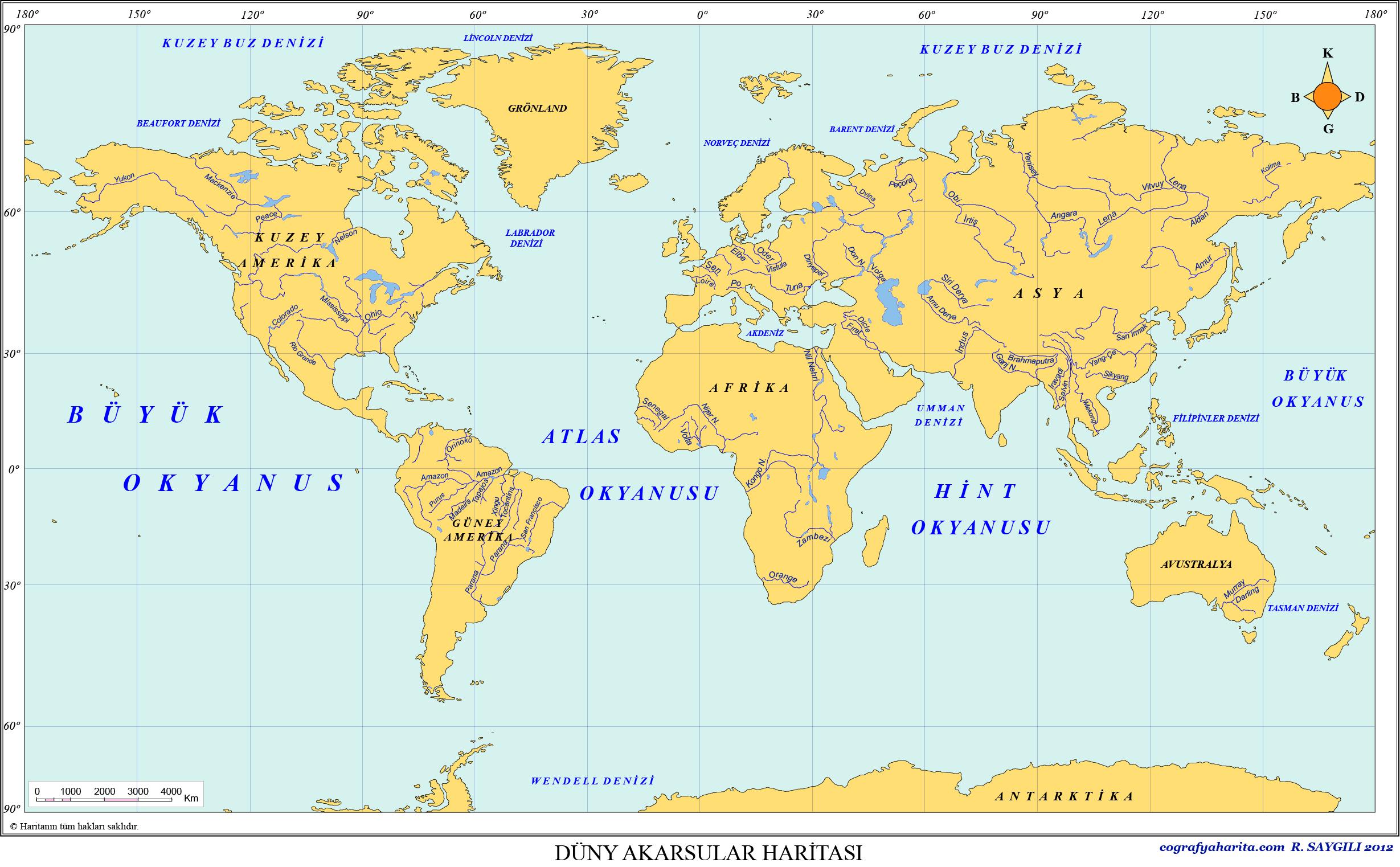 Dünya Akarsular Haritası