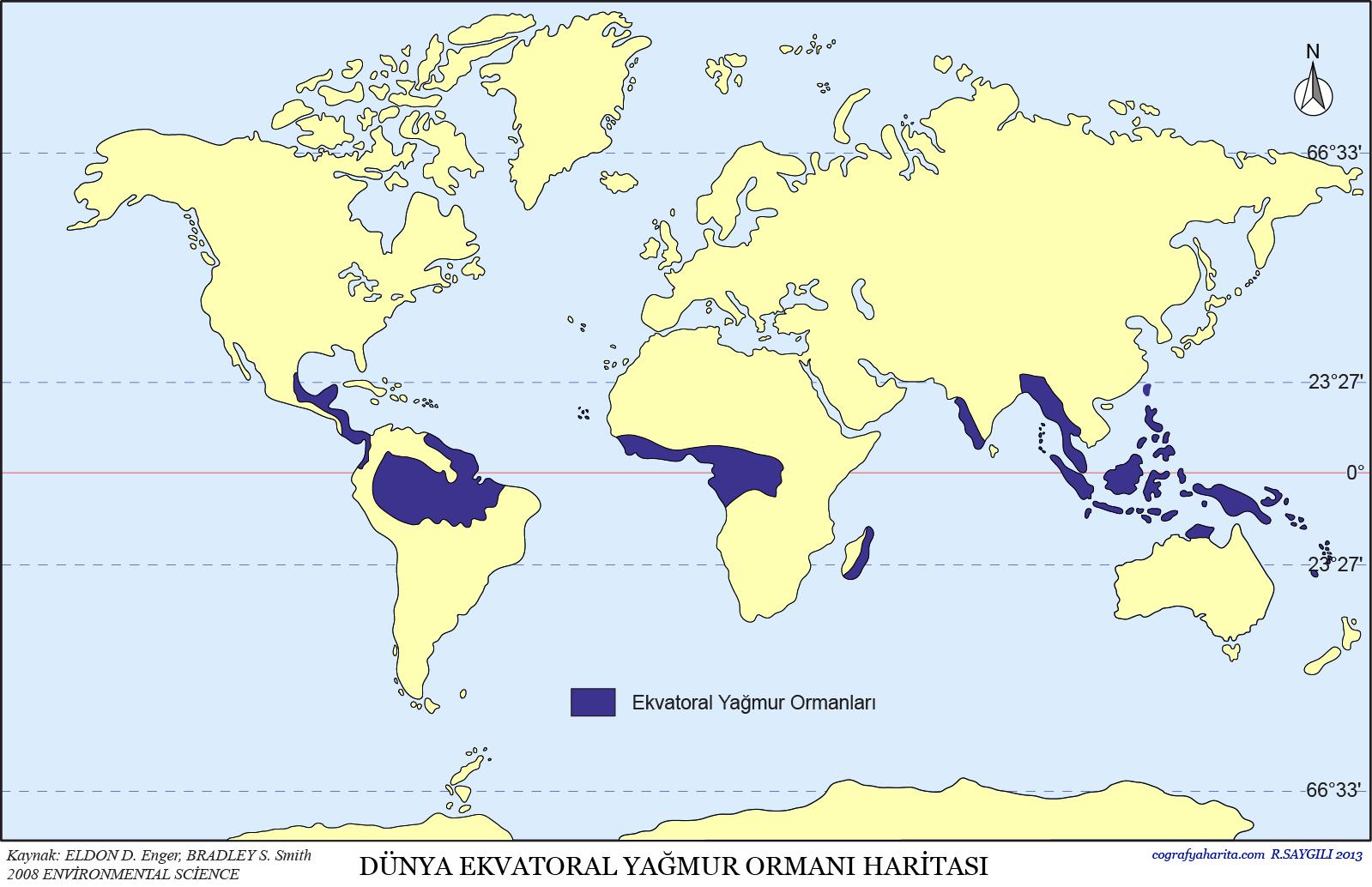 Dünya Yağmur Ormanları Haritası