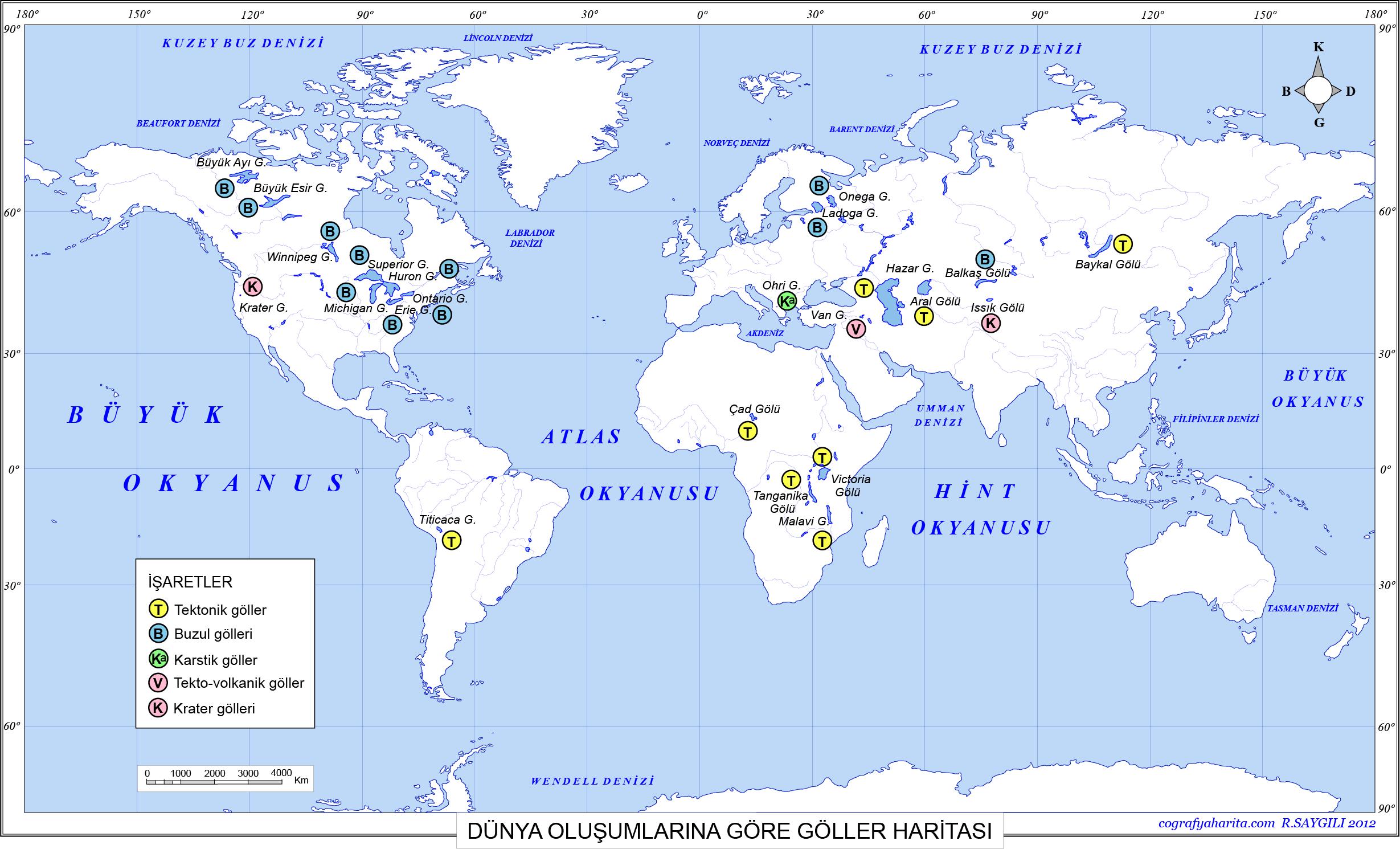 Dünya Göller Haritası 2