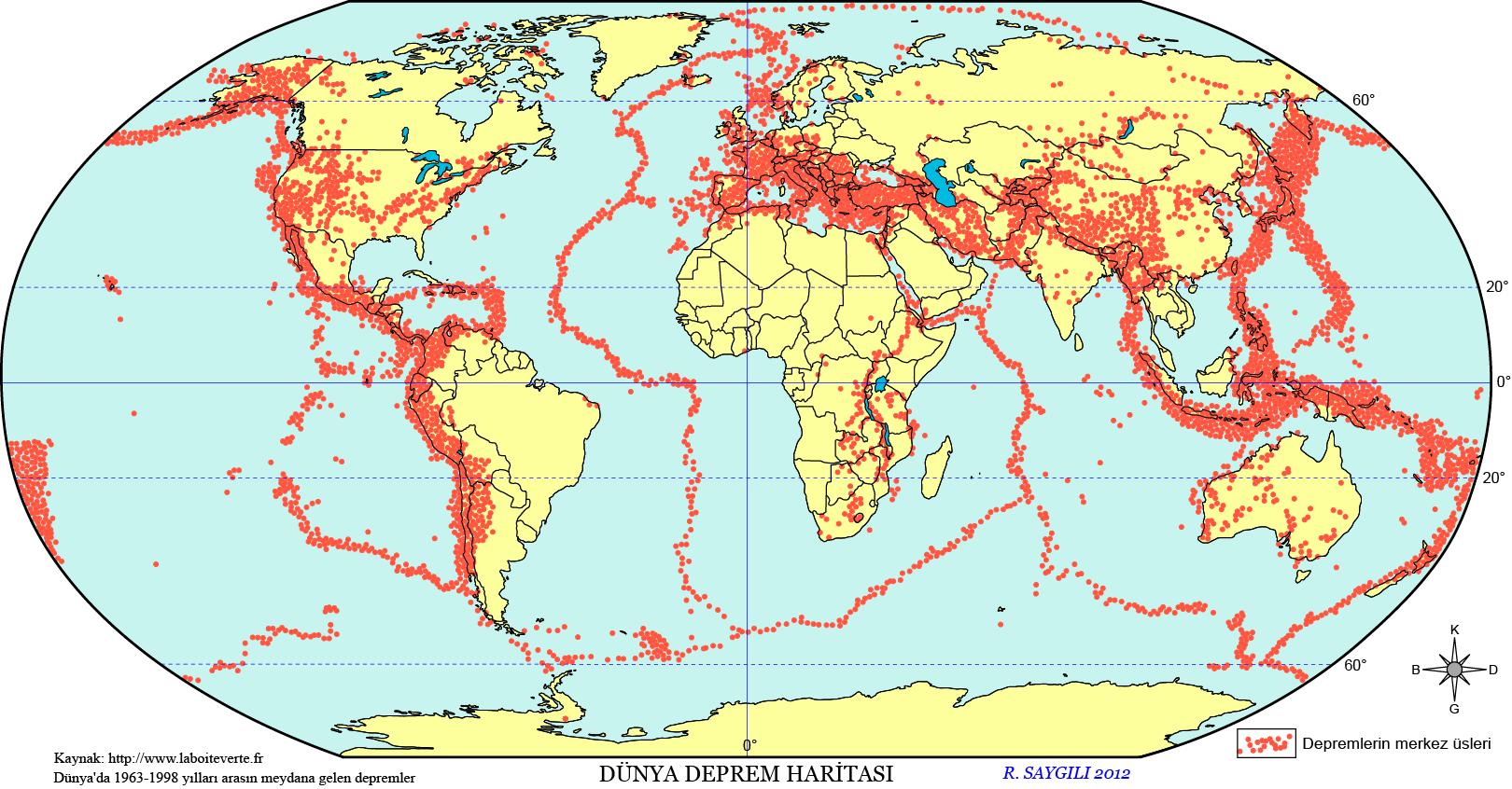 Dünya Deprem Haritası