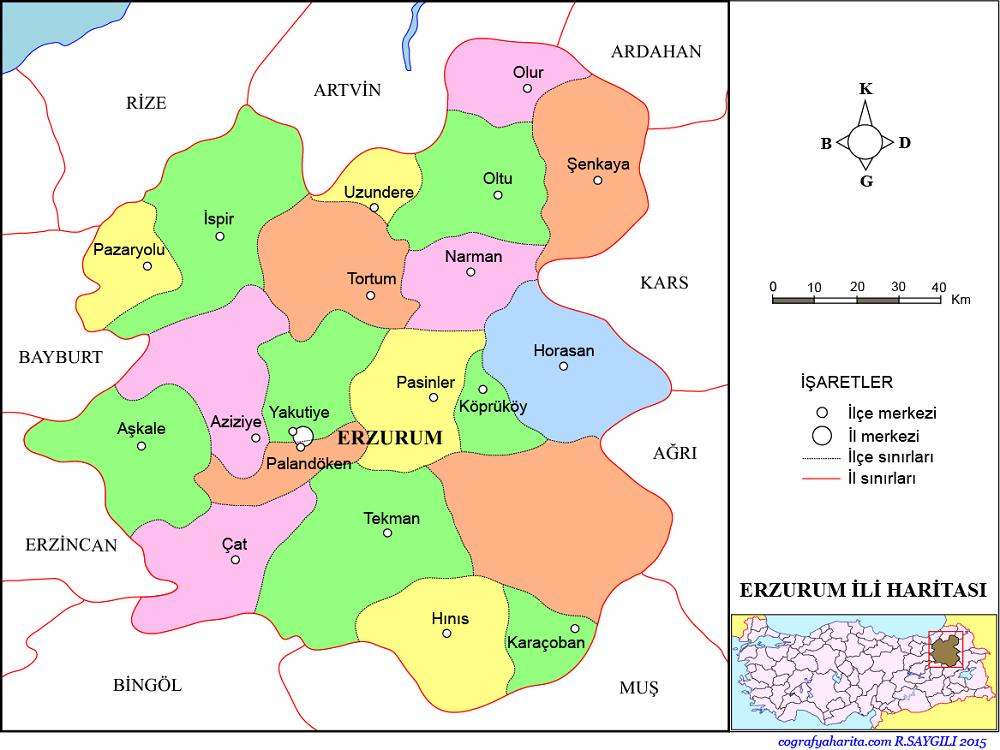 Erzurum Haritası