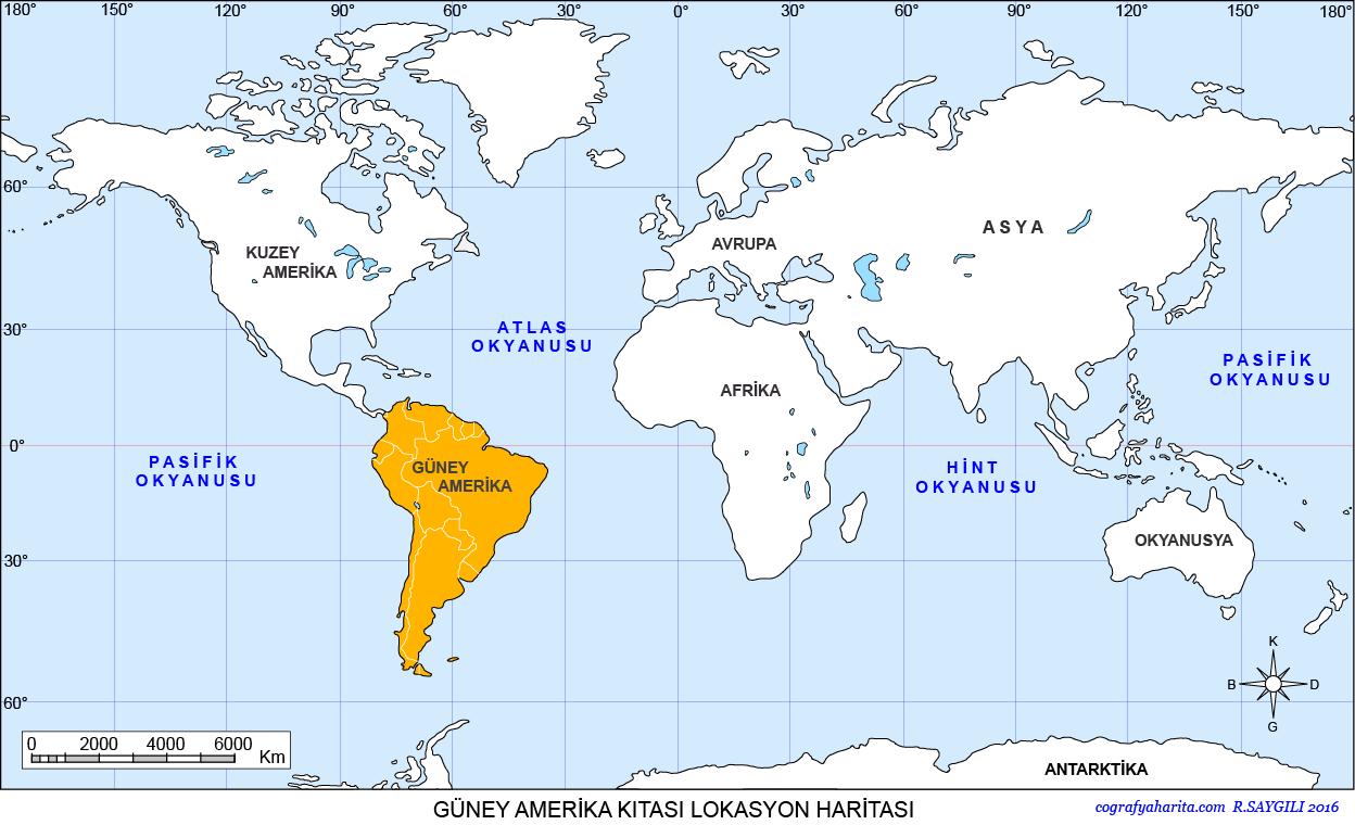 Güney Amerika Haritası 3