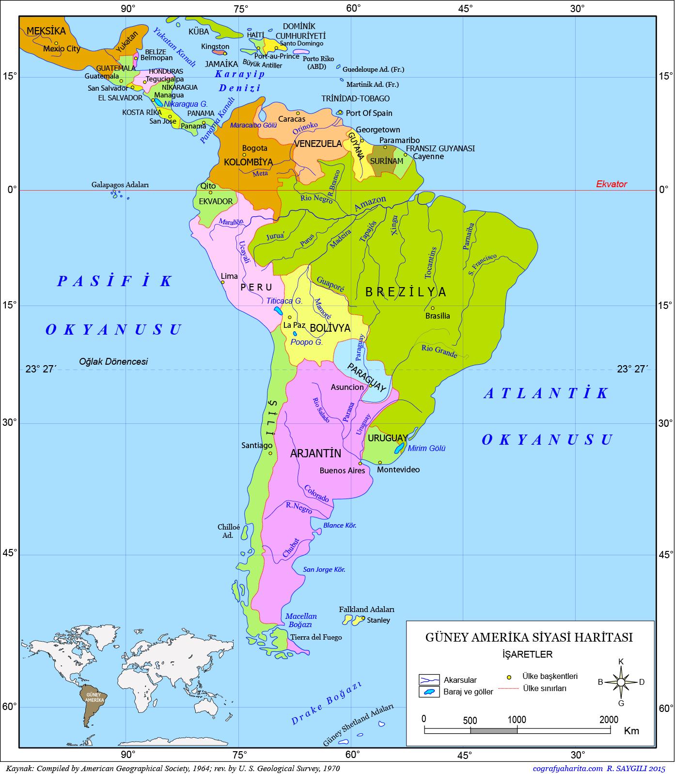 Güney Amerika Haritası 2
