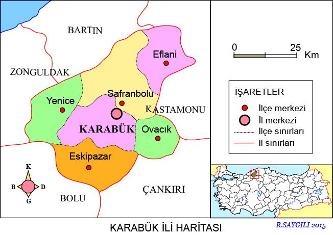 Karabük Haritası