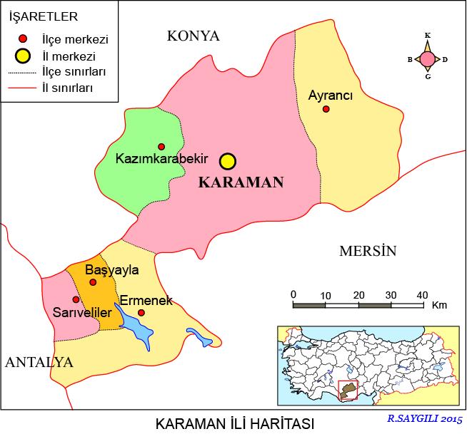 Karaman Haritası