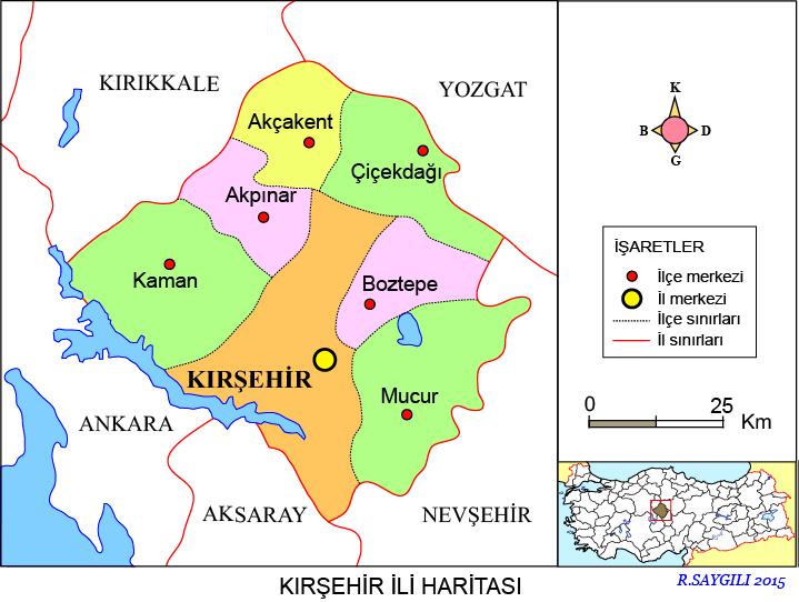 Kırşehir Haritası
