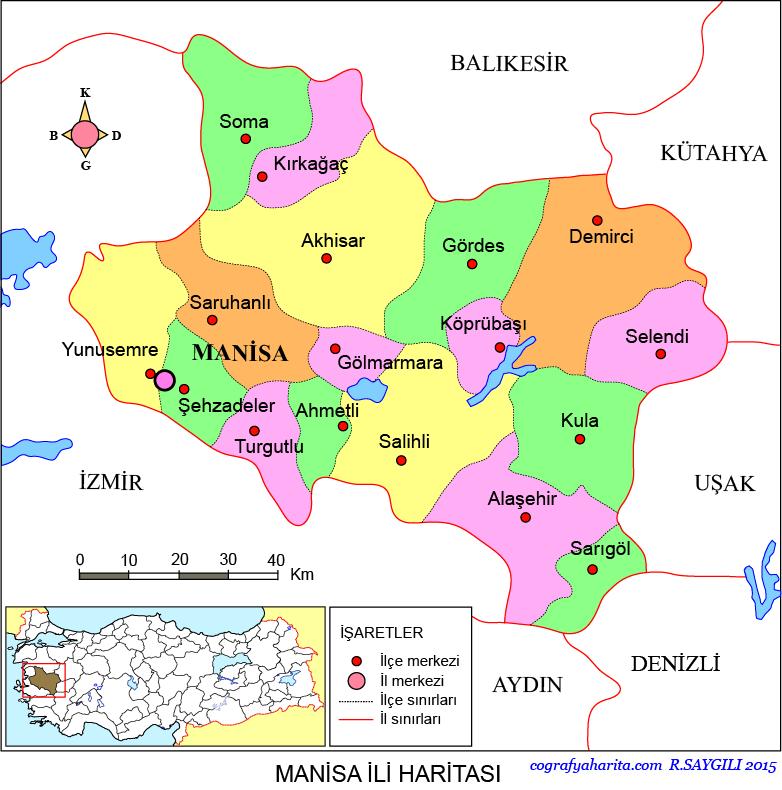 Manisa Haritası
