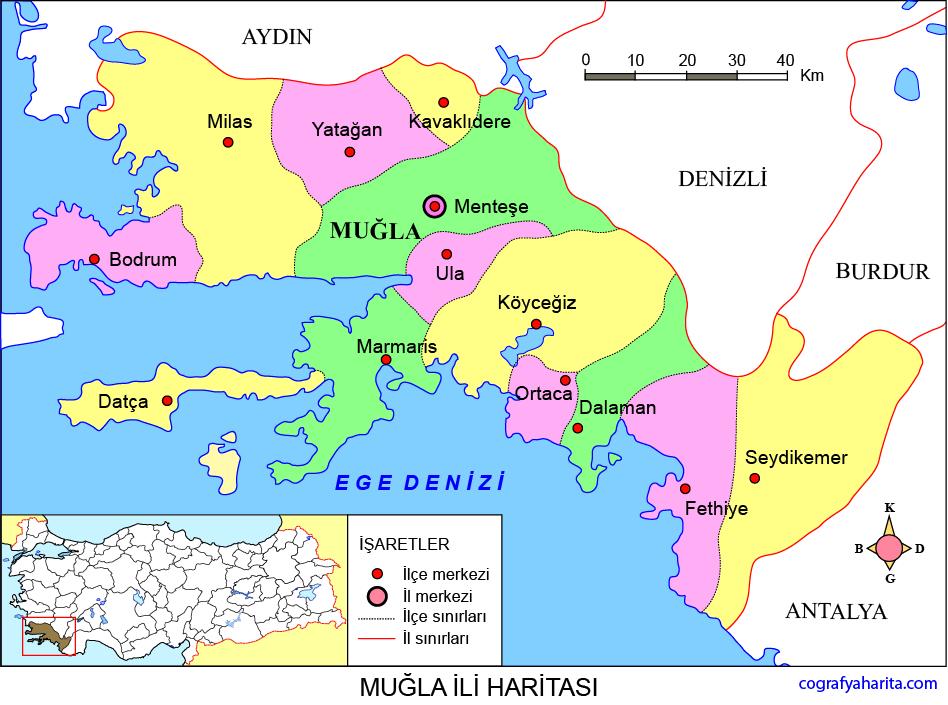 Muğla Haritası
