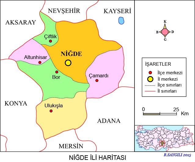 Niğde Haritası
