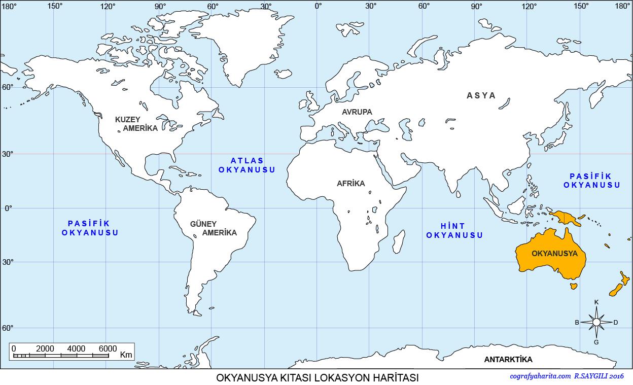 Okyanusya Haritası 3