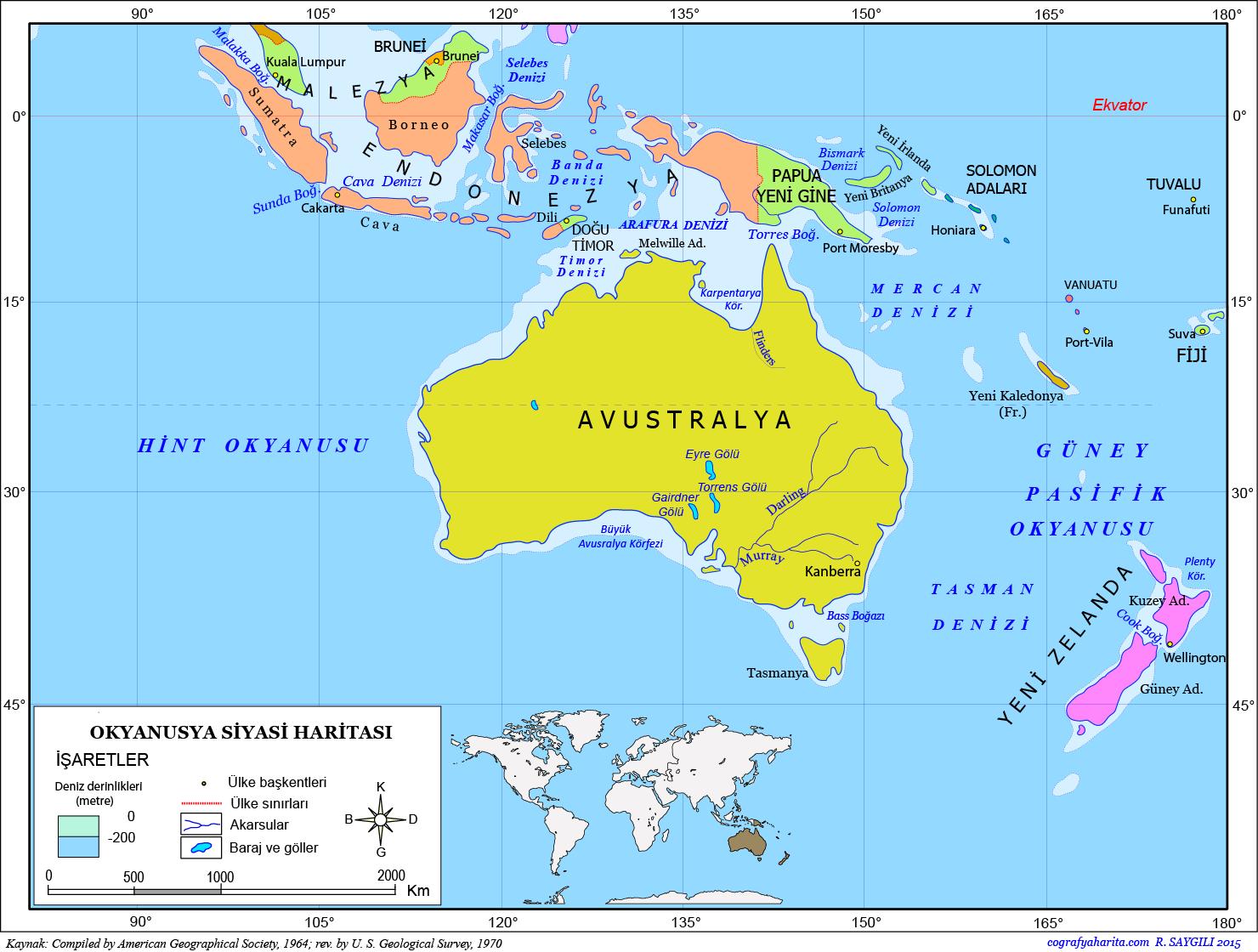 Okyanusya Haritası 2