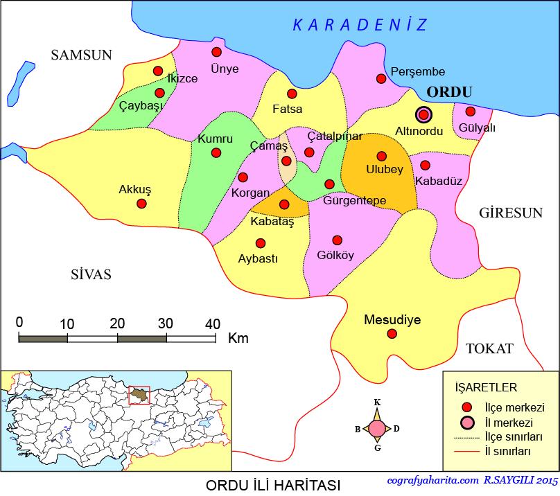Ordu Haritası