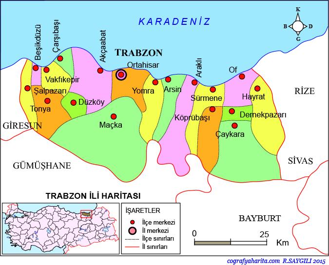 Trabzon Haritası