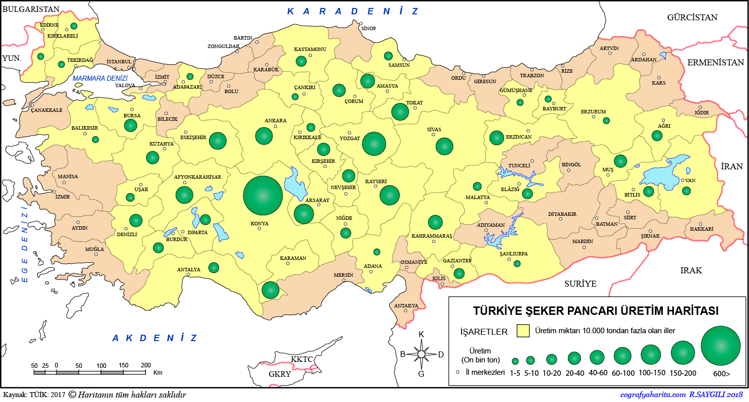 Türkiye Şeker Pancarı Üretim Haritası 3