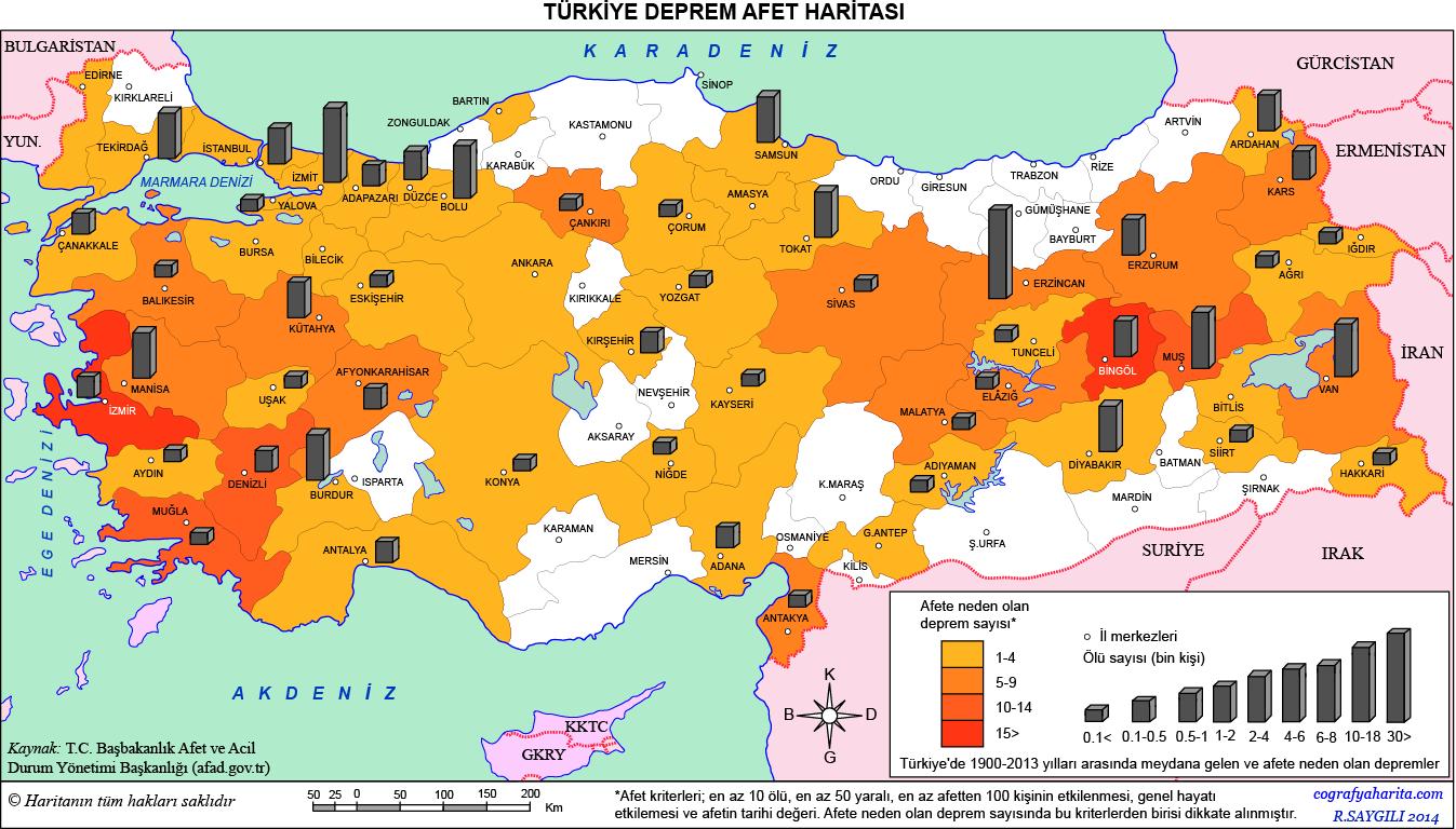 Türkiye Deprem Afet Haritası