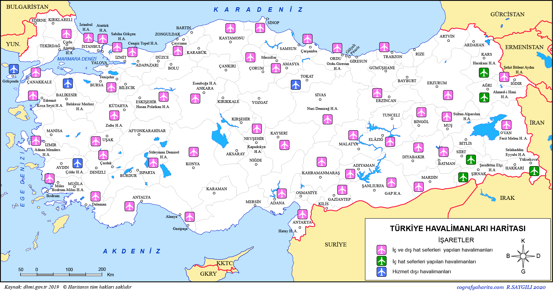 Türkiye Havalimanları Haritası