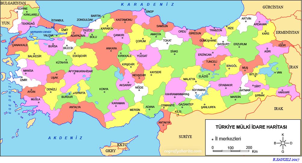 Türkiye Haritası (Siyasi) 4