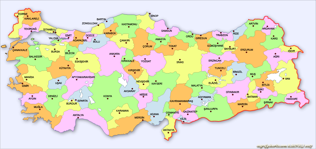 Türkiye Haritası 5