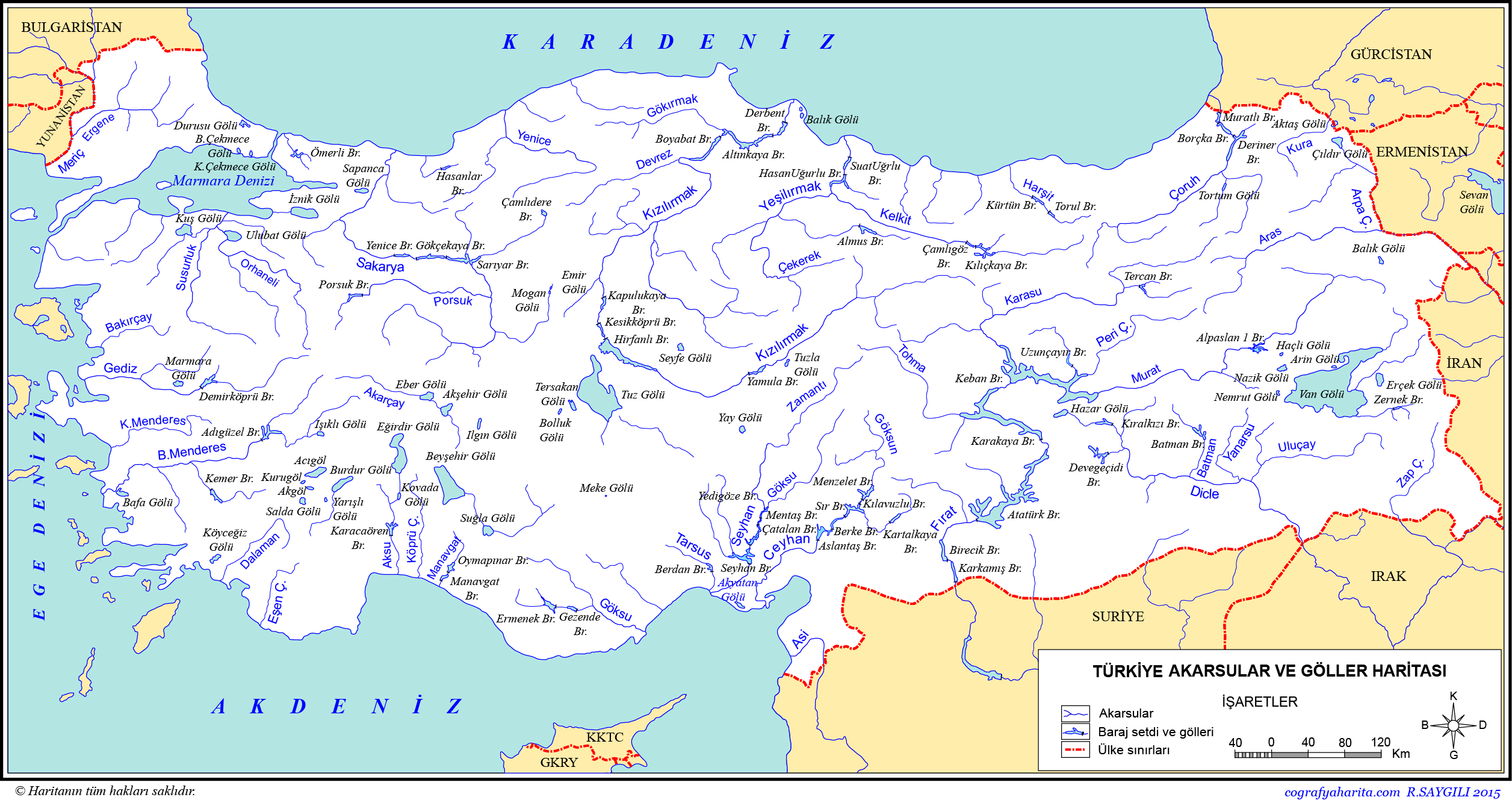 Türkiye Akarsular ve Göller Haritası 2