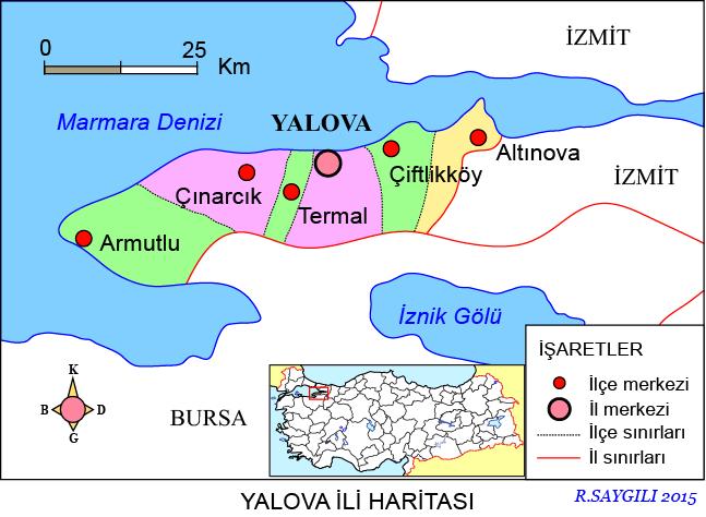 Yalova Haritası