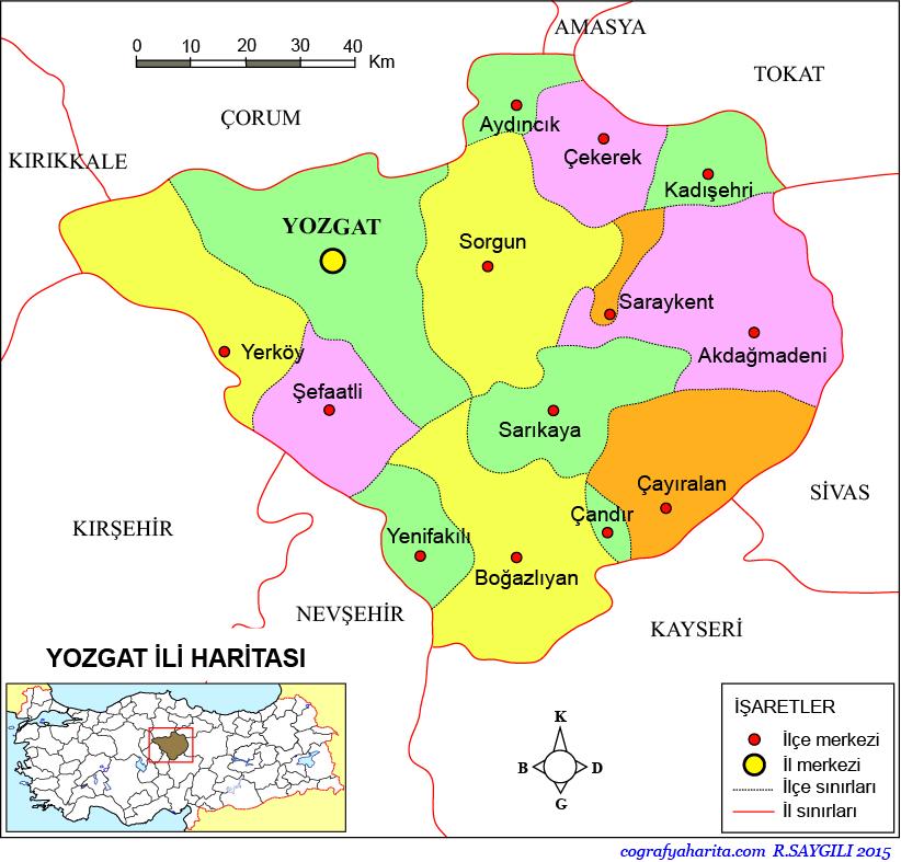 Yozgat Haritası